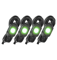 9 WATT LED ROCK LIGHT 4 POD KIT GREEN