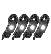 9 WATT LED ROCK LIGHT 4 POD KIT WHITE