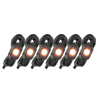 9 WATT LED ROCK LIGHT 6 POD KIT AMBER