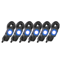 9 WATT LED ROCK LIGHT 6 POD KIT BLUE