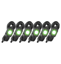 9 WATT LED ROCK LIGHT 6 POD KIT GREEN