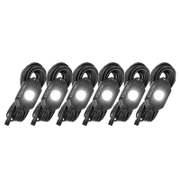 9 WATT LED ROCK LIGHT 6 POD KIT WHITE