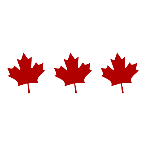 Maple Leaf Plate Sticker