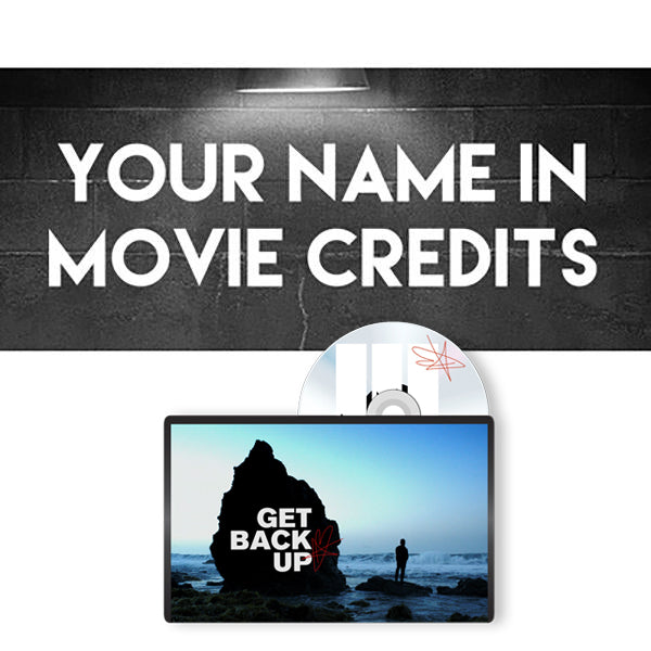 Your Name In DOCUMENTARY FILM Scrolling Credits + Signed DVD/Blu Ray