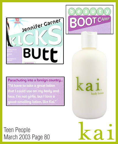 kai fragrance featured in teen people march 2003