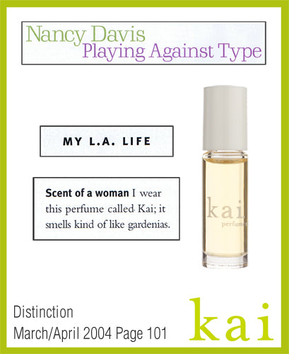 kai fragrance featured in distinction march/april 2004