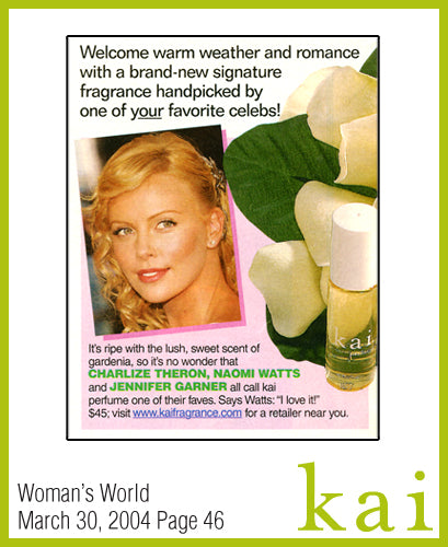 kai fragrance featured in woman's world march 2004