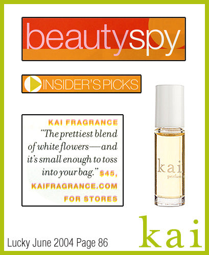 kai fragrance featured in lucky june 2004