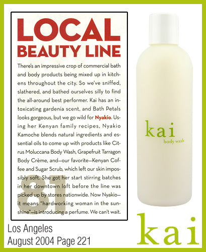 kai fragrance featured in los angeles august 2004