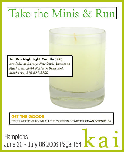 kai fragrance featured in hamptons june/july 2006
