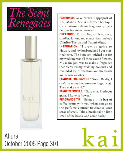 kai fragrance featured in allure october 2006