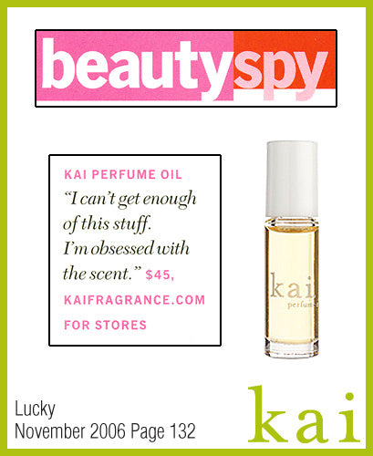 kai fragrance featured in lucky november 2006