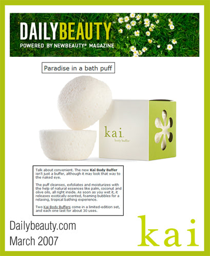 kai fragrance featured on dailybeauty.com march 2007