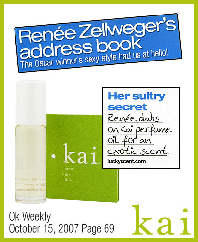 kai fragrance featured in ok weekly october 2007