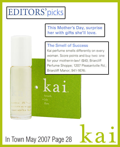 kai fragrance featured in town westchester may 2007