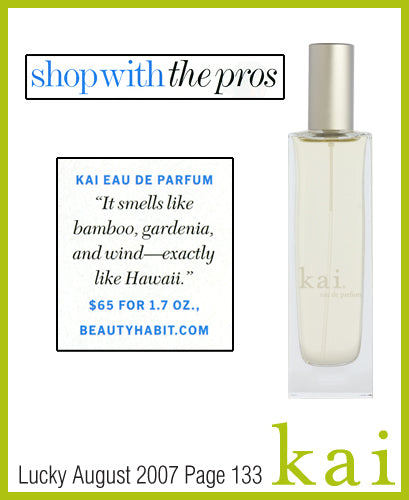 kai fragrance featured in lucky august 2007