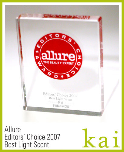kai fragrance awarded allure best light scent 2007