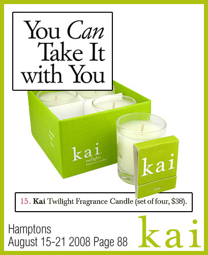 kai fragrance featured in hamptons august 2008