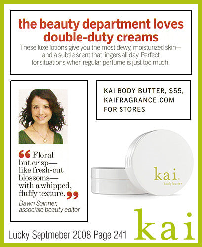 kai fragrance featured in lucky september 2008