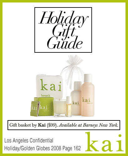 kai fragrance featured in los angeles confidential holiday/golden globes 2008