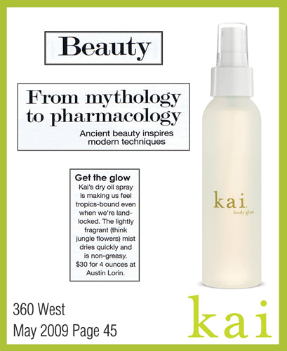 kai fragrance featured in 360 west june 2009