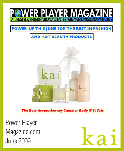 kai fragrance featured in power player magazine online june, 2009
