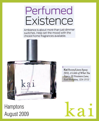 kai fragrance featured in hamptons august, 2009