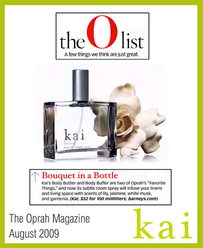 kai fragrance featured in the oprah magazine august 2009