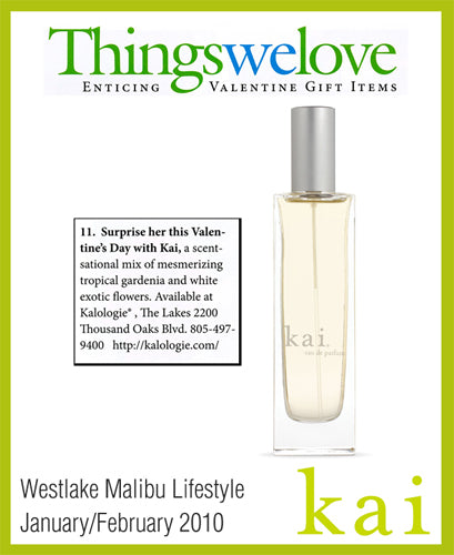 kai fragrance featured in westlake malibu lifestyle january/february, 2010