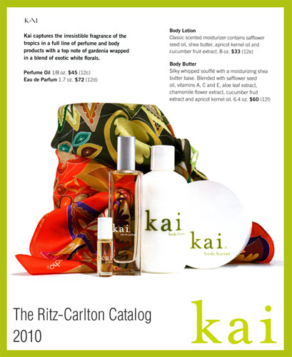 kai fragrance featured in ritz-carlton catalog 2010