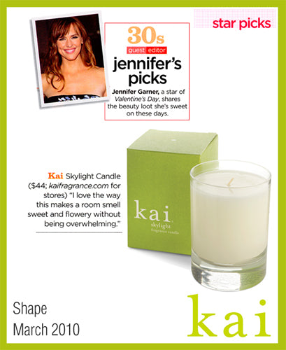 kai fragrance featured in shape march, 2010