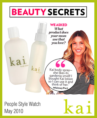 kai fragrance featured in people style watch may, 2010
