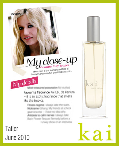 kai fragrance featured in tatler june 2010