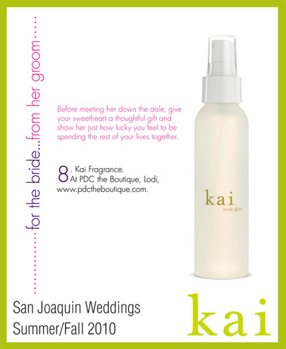 kai fragrance featured in san joaquin weddings summer/fall, 2010