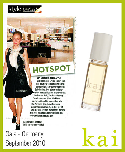 kai fragrance featured in gala - germany september, 2010