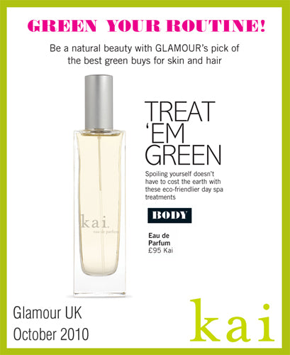 kai fragrance featured in glamour uk october, 2010