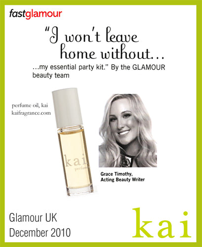 kai fragrance featured in glamour uk december 2010