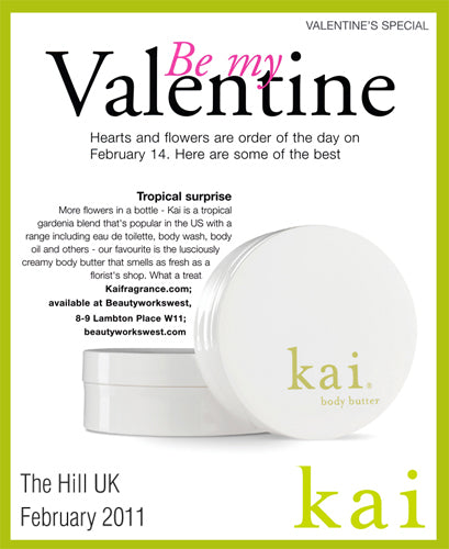 kai fragrance featured in the hill uk february, 2011