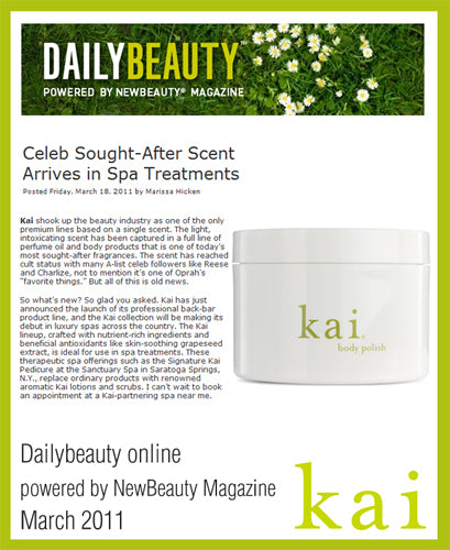 kai featured on dailybeauty online march, 2011