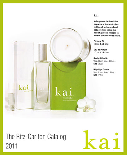 kai featured in ritz-carlton catalog 2011