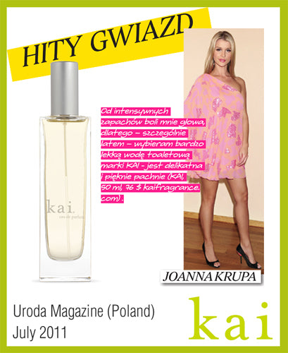 kai featured in uroda magazine poland july, 2011