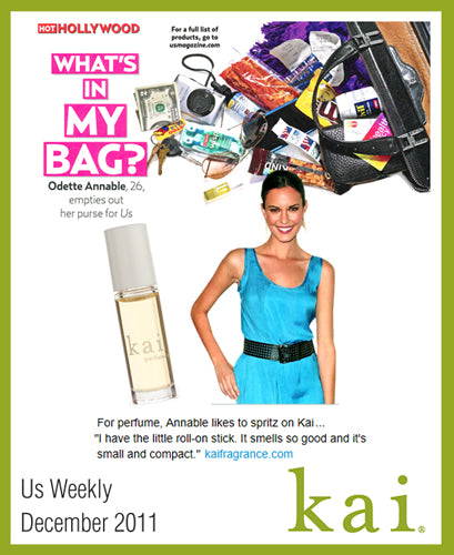 kai fragrance featured in us weekly december 2011