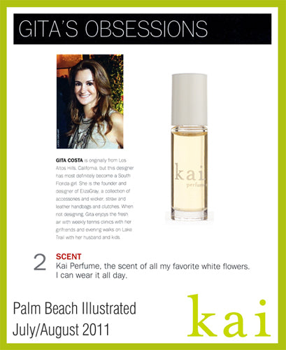 kai featured in palm beach illustrated july/august, 2011