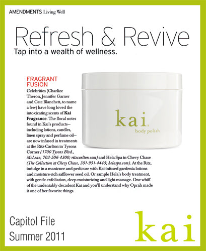 kai featured in capitol file summer, 2011
