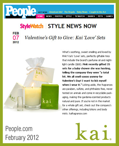 kai featured on people.com january, 2012