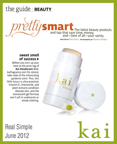 kai featured in real simple june, 2012