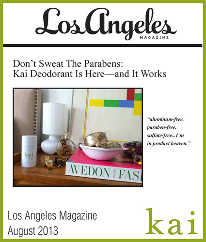 kai featured in los angeles magazine august, 2013
