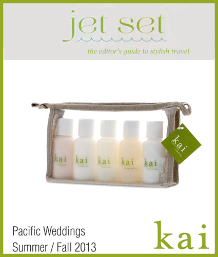 kai featured in pacific weddings summer/fall, 2013