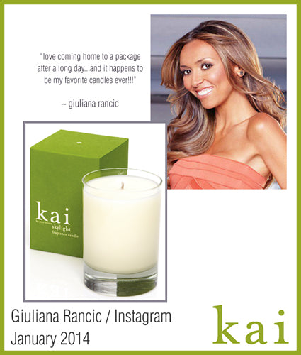 kai fragrance featured in giuliana rancic - instagram january 2014