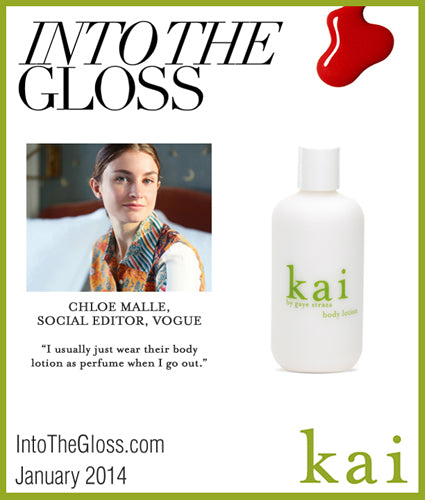 kai fragrance featured in intothegloss.com january 2014